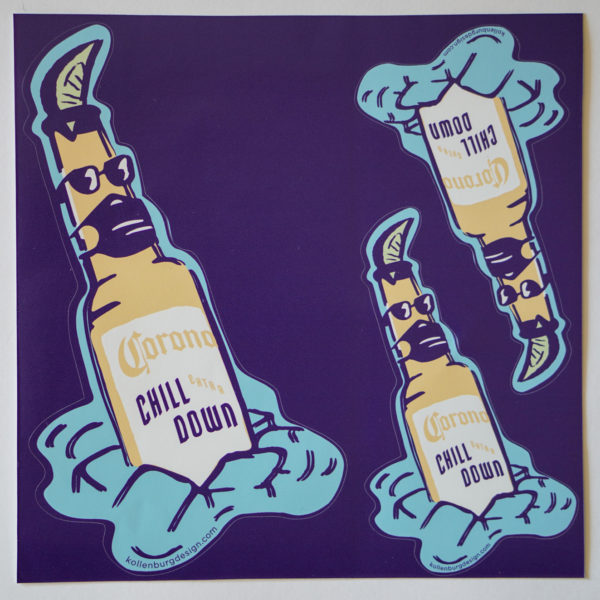 Corona-chill-down-stickers